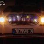 Frontansicht des Lincoln Town Cars des Chauffeurservice Dortmund